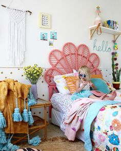 boho kids bedrooms - love this look for kids! more pics on the blog