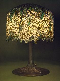 Antique suess leaded glass lamp for sale at 5000 lamps i like tiffany studios white wisteria leaded glass and gilt bronze table lamp aloadofball Gallery