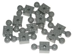 LEGO 10 Dark Bluish Gray Technic Bricks Modified 2 x 2 with Balls 70165 #LEGO