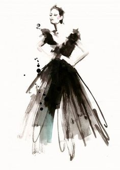 Fashion illustration art by Cecilia Lundgren. Here you can find different types of fashion design artworks & paintings. Take a look Art And Illustration, Illustrations Vintage, Illustration Techniques, Fashion Illustration Sketches, Fashion Sketchbook, Fashion Sketches, Dress Sketches, Drawing Sketches, Illustrations Posters