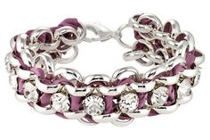 Pretty lilac silk paired with silver bracelet. Love the look of this!