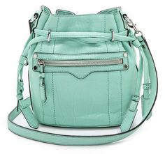 Obessed with this Rebecca Minkoff mini bucket bag - a little small for me for every day but hello weekend.