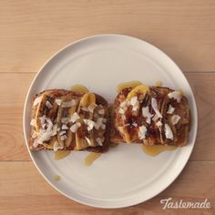 Caramelize a banana and pair it with chunky peanut butter, coconut flakes, crispy toast and maple syrup for the ultimate sweet treat without the guilt.