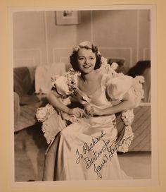 Janet Gaynor Signed Photo