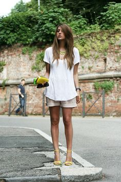 Yellow details (by Nicoletta Reggio) http://lookbook.nu/look/3661241-Yellow-details