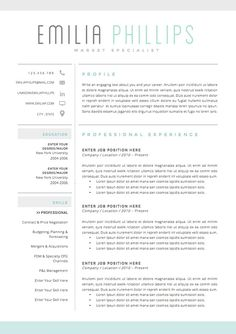 Professional Resume Template And Cover By Botanicapaperieshop