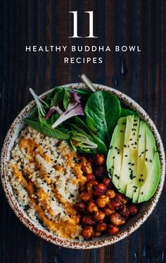 Essen Bowl Healthy Buddha Bowl Recipes PureWow is part of Healthy recipes A mishmash of protein, veggies and grains, the Buddah bowl is an easy way to use up leftover produce Healthy, efficient and delicious - Healthy Desayunos, Healthy Drinks, Healthy Snacks, Healthy Eating, Healthy Dishes, Healthy Smoothies, Whole Food Recipes, Cooking Recipes, Cooking Food