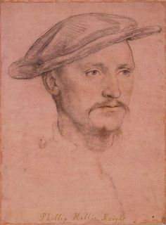 Hans Holbein the Younger - Sir Philip Hoby RL 12210 - List of portrait drawings by Hans Holbein the Younger - Wikipedia Portrait Sketches, Portrait Art, Gouache, Hans Holbein The Younger, Renaissance Portraits, Great Works Of Art, Tudor History, Great Paintings, Historical Art