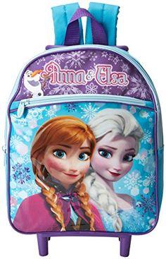 34f78d43fee2 Disney Girl s Frozen Rolling Backpack