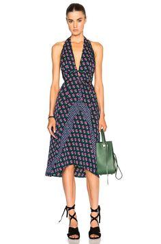 Diane von Furstenberg Layland Dress in Zen Floral Midnight   FWRD
