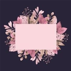 Empty banner with winter flowers Free Ve. Floral Wallpaper Iphone, Framed Wallpaper, Flower Background Wallpaper, Flower Backgrounds, Background Patterns, Wallpaper Backgrounds, Backgrounds Free, Flower Background Design, Pink Glitter Background