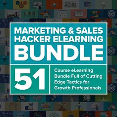 Marketing and Sales Hacker eLearning Bundle Facebook Marketing, Sales And Marketing, Landing Pages That Convert, Market Environment, Content Analysis, Competitive Analysis, Marketing Professional, Creating A Blog, Online Business