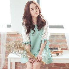 Lace Sleeve A-Line Tunic from #YesStyle <3 Tokyo Fashion YesStyle.com