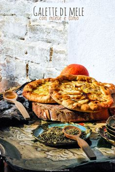 Apple galette with thyme and honey  #apple #galette #france #honey