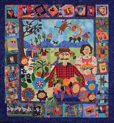 Grandma and Grandpa story quilt by Mary Lou Weidman