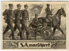 """""""SA marschiert"""" - """"Für FÜHRER und VOLK"""""""