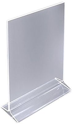 "ChefLand 5"" X 7"" Acrylic Sign Holder / Clear Table Card Display / Plastic Upright Menu Ad Frame (Pack of 12) ChefLand http://www.amazon.com/dp/B00E8L3CRA/ref=cm_sw_r_pi_dp_VyXhwb041NGEB"