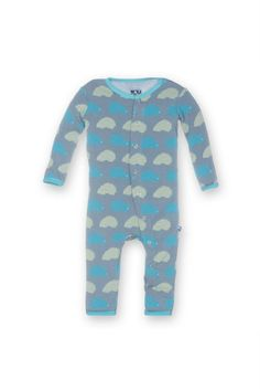 In addition to being adorable Kickee Pants coverall pajamas are incredibly comfy and soft. Made from 95% bamboo and 5% Spandex these coverall pajamas feature a convenient back flap that snaps open for easy diaper access Porcupine Baby Coverall by Kickee Pants. Baby - Baby Boy - Sleepwear California