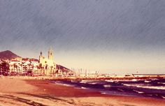 """See 257 photos and 7 tips from 893 visitors to Passeig Marítim de Sitges. """"this beach includes a play ground in the shape of a ship! Sitges, Playground, Paris Skyline, Beach, Travel, Street, Profile, Historia, Children Playground"""