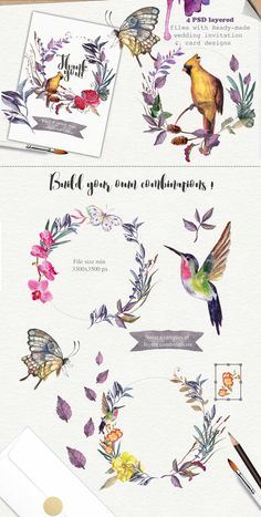 Wild flower pack 75 - Illustrations