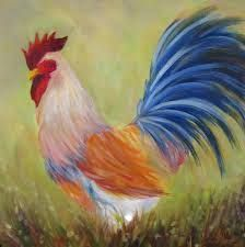 Image result for one stroke painted rooster