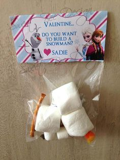 Frozen Valentine's Printable , Frozen Valentines Printable - Since the kids are IN LOVE with Olaf here's a cute one. Valentine Day Crafts, Be My Valentine, Holiday Crafts, Holiday Fun, Valentine Ideas, Frozen Birthday Party, Frozen Party, Kids Crafts, Just In Case
