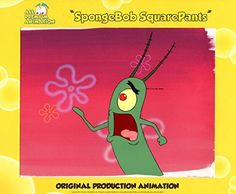 Hand Painted SpongeBob SquarePants Production Cel from episode SLEEPY TIME#4823 PLANKTON Free Shippi @ niftywarehouse.com #NiftyWarehouse #Spongebob #SpongebobSquarepants #Cartoon #TV #Show