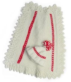 Image of Queen of Hearts lace-edged Newborn Blanket