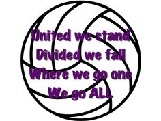 Volleyball quote!! We say this before every game!(: #volleyball #quote #chant