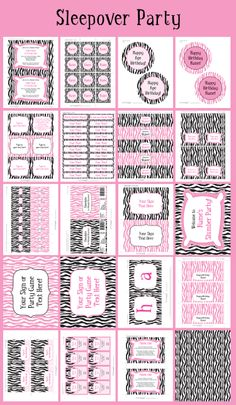 Sleepover Party Printables