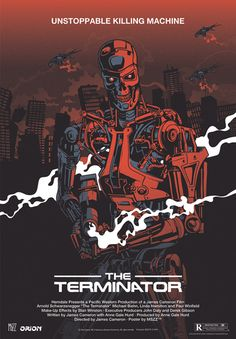 The Terminator, Polish Poster by Krzysztof Nowak