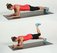 Evolve your basic donkey kick into a full-body move. Working your glutes and hamstrings in an elbow plank w...