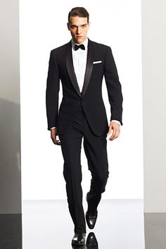 wearingasuitfornoreason:    Ralph Lauren - how to wear a tuxedo.  Note: the cummerbund    I've made it a habit the past two New Year's Eves to wear a tuxedo and decided to forgo the cummerbund. I've decided that I want to pick up one (along with a better bowtie) for this year. Haven't quite found one yet that I'm crazy about though. I do think it helps complete the look.  I'm also highly considering going for a MTM tuxedo shirt, but I haven't fully committed