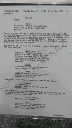 Sample script from Outlander