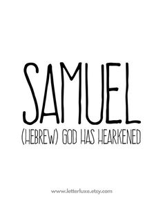 Samuel Name Meaning Print - Printable Bible Christian Nursery Art - Baby Name Meaning - Name Wall Art