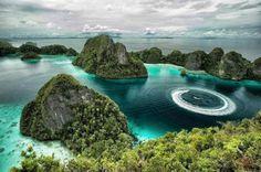 Misool island in Raja Ampat papua ,Indonesia