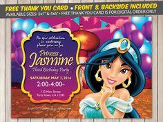 princess jasmine invitation princess jasmine invite princess jasmine birthday princess jasmine birthday invitation