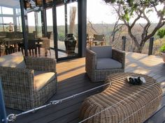 Great place to sit and relax.  This beautiful #Eva-tech deck is located at #Drifters safari lodge in South Africa.