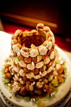 wedding croquembouche with top off  /  Janis Ratnieks Photography / French Wedding Style /  #weddingcake