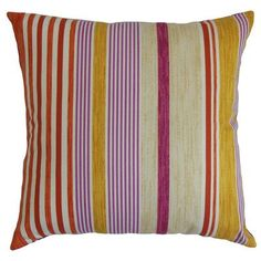 The Pillow Collection Usinsk Stripes Bedding Sham Size: