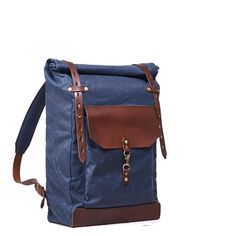 Green tartan canvas roll top backpack / Waxed canvas leather rolltop rucksack, Women, Men, Sturdy Laptop Personalized bag by InnesBags Canvas Messenger Bag, Messenger Bag Men, Canvas Backpack, Laptop Rucksack, Men's Backpack, Leather Backpack, Crazy Horse, Waxed Canvas, Canvas Leather