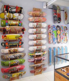 43 id es d co avec des planches de skateboard planches for Bureau skate shop