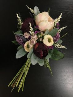 Purple Wedding bouquet, bridal bouquet, purple bridal bouquet, burgundy bridal bouquet, silk wedding flowers, fake wedding flowers
