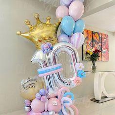 Birthday Balloon Decorations, Happy Birthday Balloons, Flower Decorations, Balloon Backdrop, Balloon Columns, Balloon Flowers, Balloon Bouquet, Ballon Crafts, Cool Paper Crafts