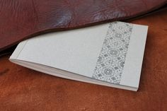 Handmade notepad a6, carefully handcrafted by    bunt www.buntroom.com