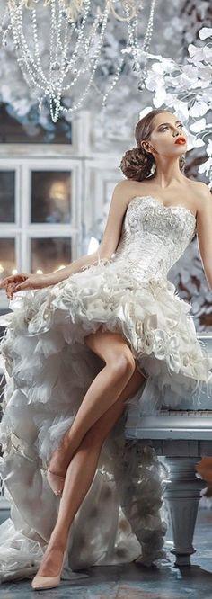 Happy September, Simply Beautiful, Unique Fashion, One Shoulder Wedding Dress, Strapless Dress, Beautiful Pictures, Elegant, Celebrities, Wedding Dresses