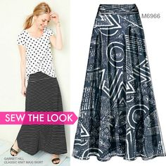 Sew the Look: Maxi skirts are one of the most comfy things you can wear this summer. Sew yours in a jersey knit using McCall's M6966  skirt pattern.