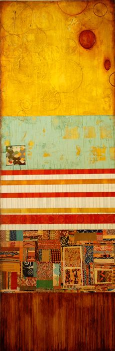 Big Top | 2009 | jill ricci ( mixed media on canvas, 24x60 )