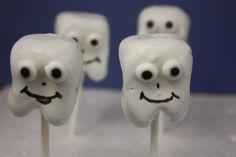 tooth cake pops, dental cake pops