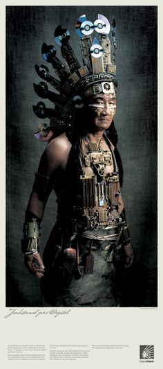 """""""Chief."""" 2006. Steampunk meets Native American culture. Ad campaign for Australian printing company ColourChiefs. Slogan: """"Traditional Goes Digital."""""""